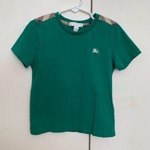 Burberry check shoulder shirt with EKD logo